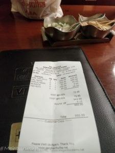 sanja chulha - menu