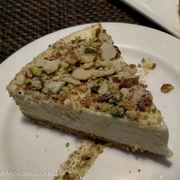 Bhapa doi cheesecake at Cafe Lota