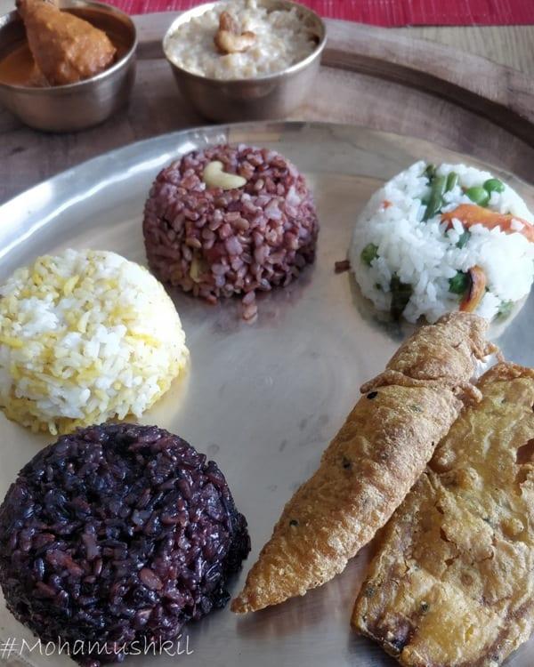 Rice variety at rice festival