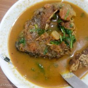 Fish curry at Nagaland house